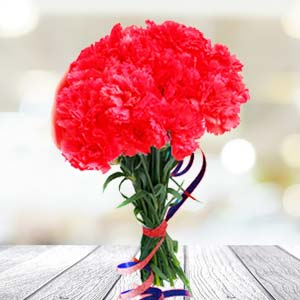 Red Carnations: Birthday Kapurthala,  India