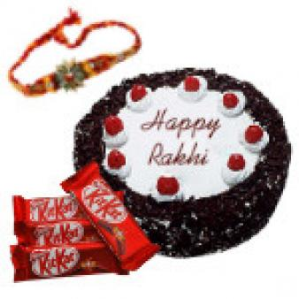 Rakhi With Black Forest Cake: Rakhi Nasik,  India