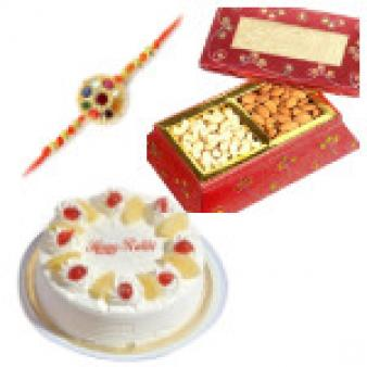 Amazing Dry Fruits Rakhi Combo: Rakhi  India