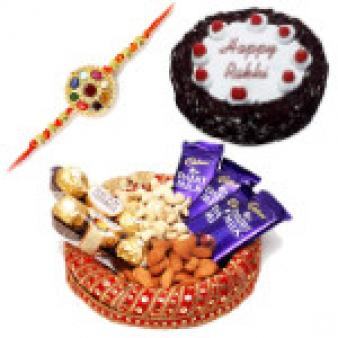 Rakhi Dry Fruits Basket Hampers: Rakhi Ahmedabad,  India