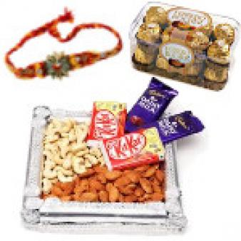 Rakhi Gift Hampers Thali: Rakhi Ambala,  India