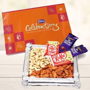 Dry Fruits Combo With Cadbury Celebrations: Diwali Gifts Jammu,  India