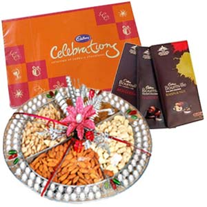Dry Fruits Box Combo With Chocolates: Birthday Agra Cantt,  India