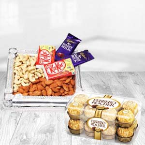 Dry Fruits Box With Ferrero Rocher: Gifts For Sister Gandhidham,  India