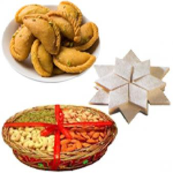 Dry Fruits With Sweets Combo: 1st birthday gifts Bikaner (rj),  India