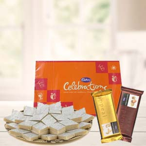 Sweets Combo With Cadbury Celebrations: Diwali Gifts Bareilly,  India