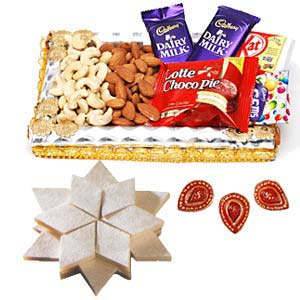 Dry Fruits Combo Thali With Sweets: Birthday Mangalore,  India