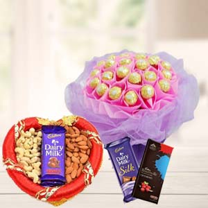 Ferrero Rocher Bunch Choco & Dry Fruit: Diwali Gifts Vijayawada,  India