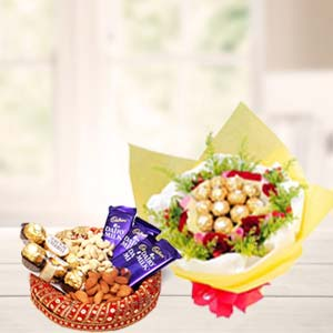 Special Dry Fruits Thali With Chocolates: Birthday Noida,  India