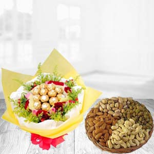 Special Combo With Dry Fruits Thali: Gifts For Sister Rajkot,  India