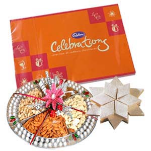 Dry Fruits Thali Occasions Combo: Gifts For Sister Latur,  India