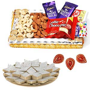 Half Kg Kaju Katli Sweets Combo: 1st birthday gifts Cuttack,  India