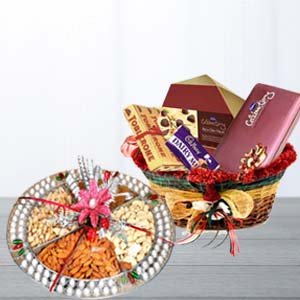 Assorted Chocolates With Dry Fruits: Gifts For Sister Yamuna Nagar,  India