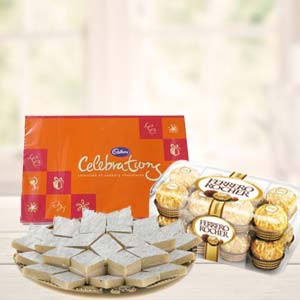 Ferrero Rocher Combo With Celebrations: 1st birthday gifts Ludhiana,  India
