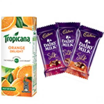 Tropicana & Dairy Silk Chocolates: Kids birthday Patna,  India