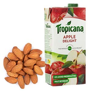 Tropicana Juice With Almonds: Gifts For Him Hoshiarpur,  India