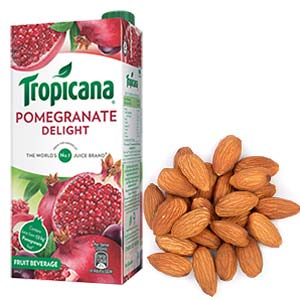 Tropicana & Dry Fruits Combo: 1st birthday gifts Calcutta,  India