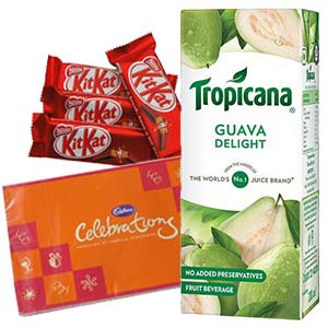 Tropicana Juice Chocolates Combos: Gifts For Him Rohtak,  India