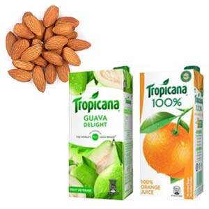 Dry Fruits With Tropicana Combos: 1st birthday gifts Bilaspur,  India