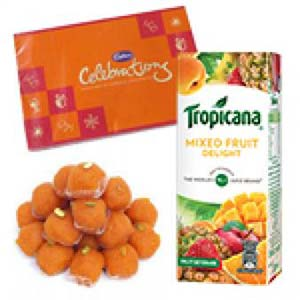 Tropicana And Sweets Combo: Gifts For Sister Meerut,  India