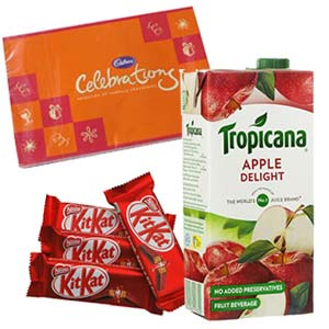 Tropicana Apple Juice Combo: Gifts For Him Ambala Cantt,  India