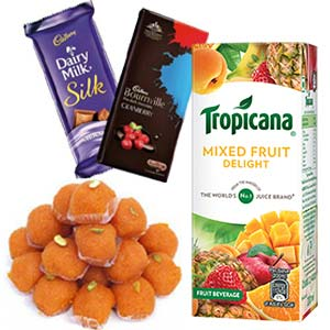 Tropicana With Chocolates Combo: 1st birthday gifts Ujjain,  India