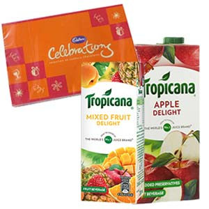 Two Tropicana Juice Combos: Mothers day Dhanbad,  India