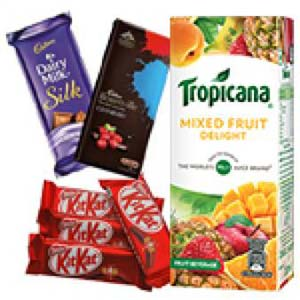 Tropicana And Chocolates Combo: Gifts For Her Baroda,  India