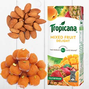 Tropicana Mixed Fruits Combo: 1st birthday gifts Ambala,  India