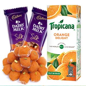 Tropicana Orange Juice Combo: 1st birthday gifts Ambala,  India