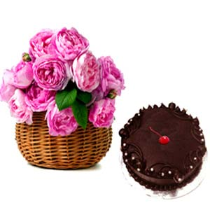 Pink Roses And Chocolate Cakes: Mothers day flowers Gwalior,  India