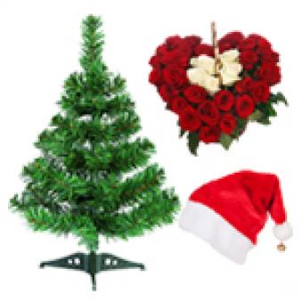 Heart Shape Christmas Gifts Combo: Christmas Rajkot,  India