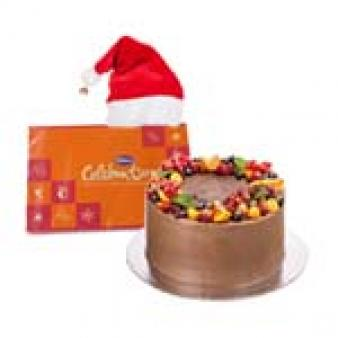 Chocolate Fruit Cake For Xmas: Christmas Mohali,  India