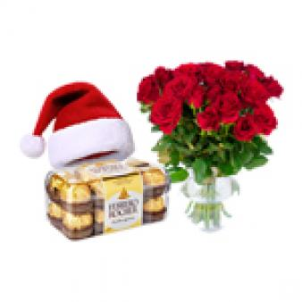 Red Roses Xmas Gifts Combo: Christmas Pune,  India