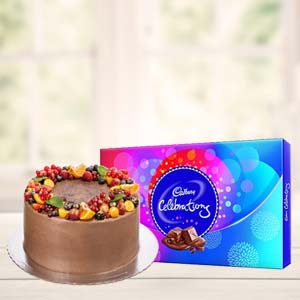 Chocolate Cake Gifts Combo: Valentine Gifts For Husband Jamshedpur,  India