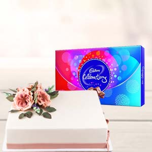 2 KG Cake Gifts Combo: Anniversary chocolates  India