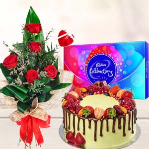 Regular Gift Combos: Anniversary flowers & chocolates Bulandshahr,  India