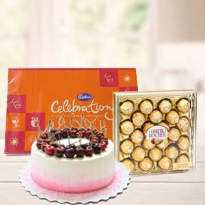 Regular Chocolate Combo Gifts: 1st birthday gifts Bilaspur,  India