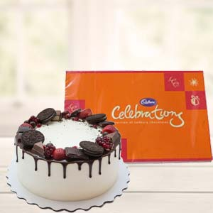 Oreo Cake Gifts With Chocolate: 1st birthday gifts Cuttack,  India