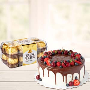 Cake Combo With Chocolates: Gifts For Sister Patiala,  India