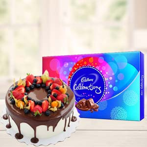 Cake Gifts With Celebrations: 1st birthday gifts Panchkula,  India