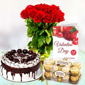 Regular Combo: Anniversary flowers & cake Latur,  India