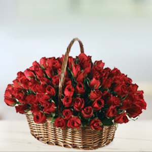 Special 70 Rose Basket: Anniversary flowers Khanna,  India