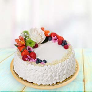 Fresh Fruit Cream Cake: Rakhi Ambala,  India