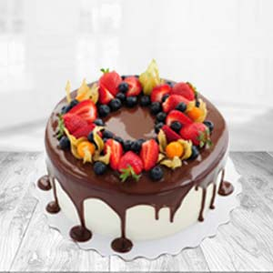 Chocolate Fruit Cake: Kiss Day Ludhiana,  India