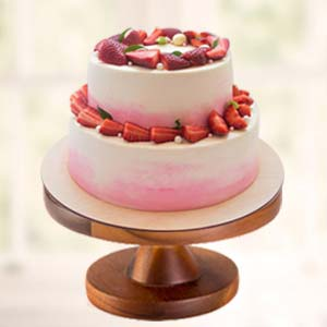 Strawberry Fruit Cake: Valentine's Day  India