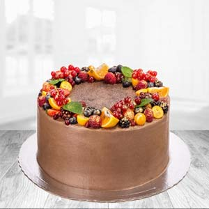 1 KG Chocolate Fruit Cake: Valentine Gifts For Husband Ambala,  India